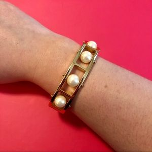 Talbots Gold and Pearl Bracelet